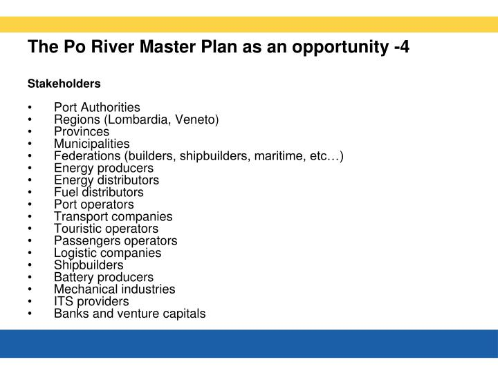 The Po River Master Plan as an opportunity -4
