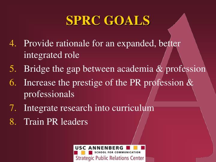 SPRC GOALS