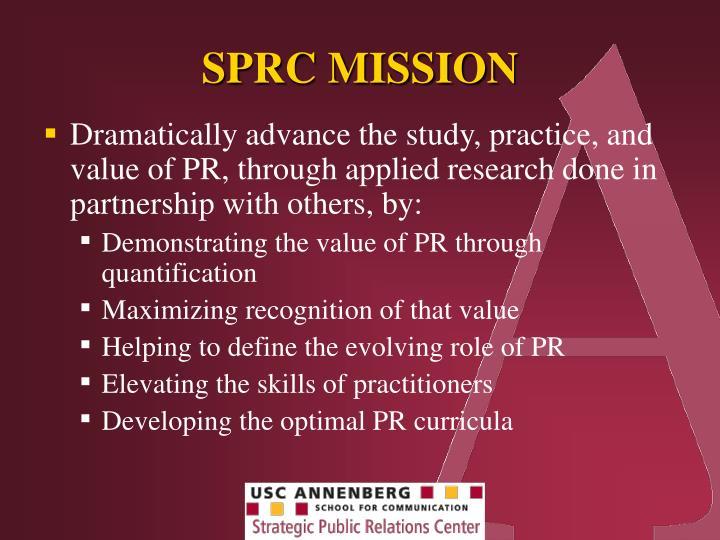 SPRC MISSION