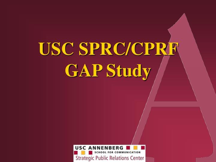 USC SPRC/CPRF