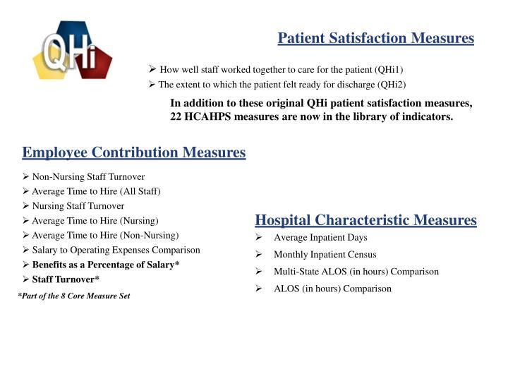 Patient Satisfaction Measures