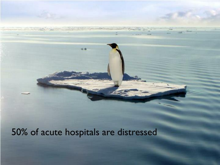 50% of acute hospitals are distressed