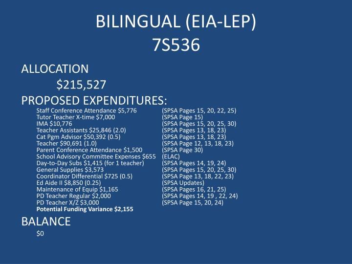 BILINGUAL (EIA-LEP)