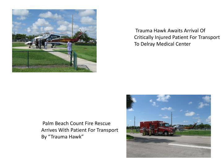 Trauma Hawk Awaits Arrival Of