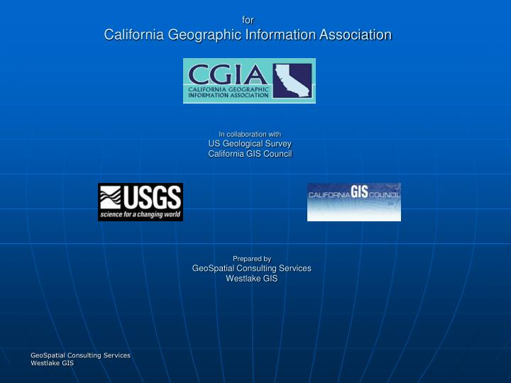 For california geographic information association