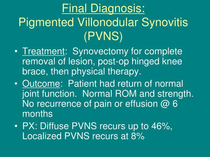 Final Diagnosis: