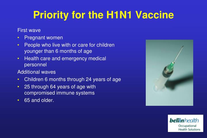 Priority for the H1N1 Vaccine