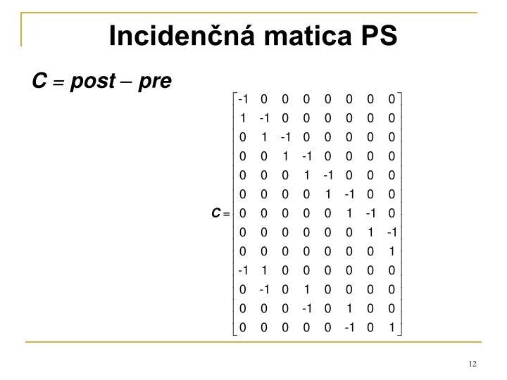 Incidenčná matica PS