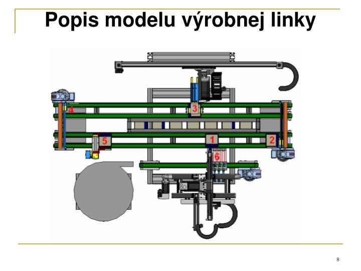 Popis modelu výrobnej linky