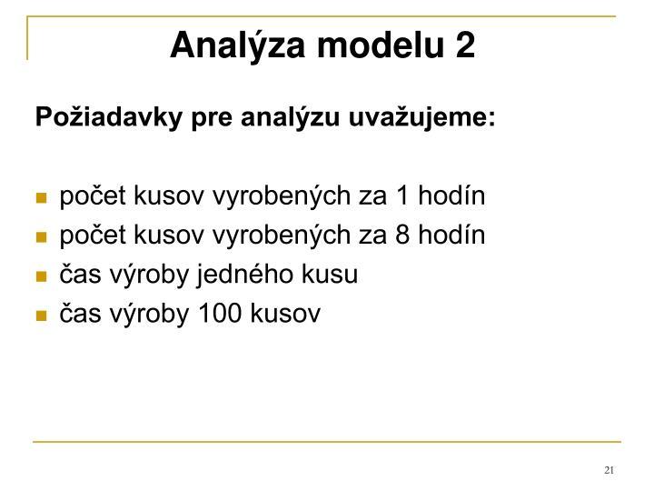 Analýza modelu 2
