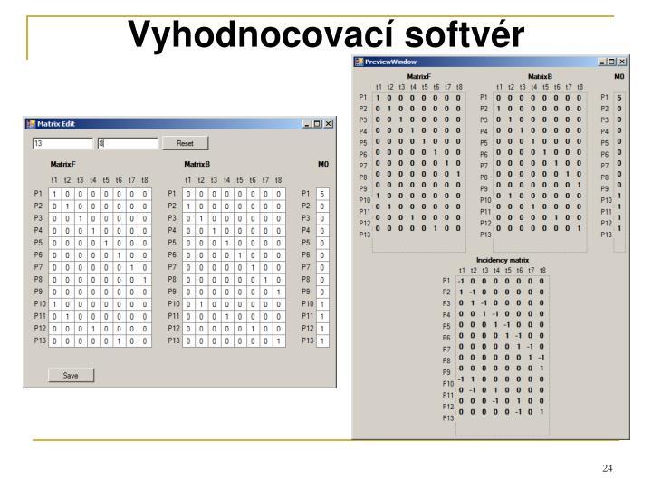 Vyhodnocovací softvér