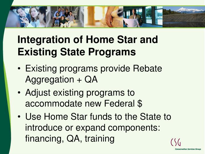 Integration of Home Star and