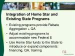 integration of home star and existing state programs