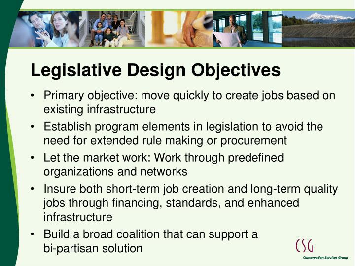 Legislative Design Objectives