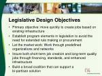 legislative design objectives