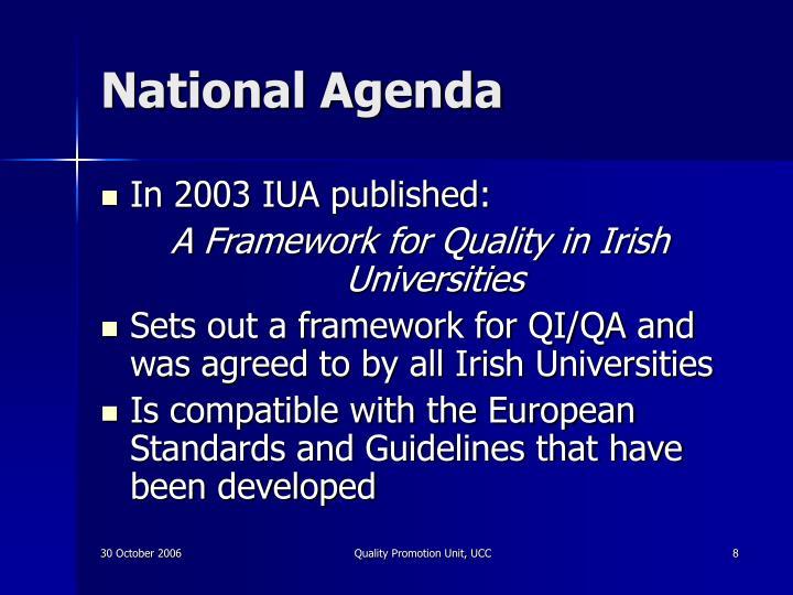 National Agenda