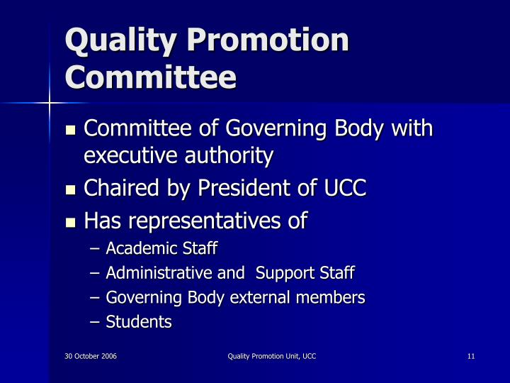 Quality Promotion Committee