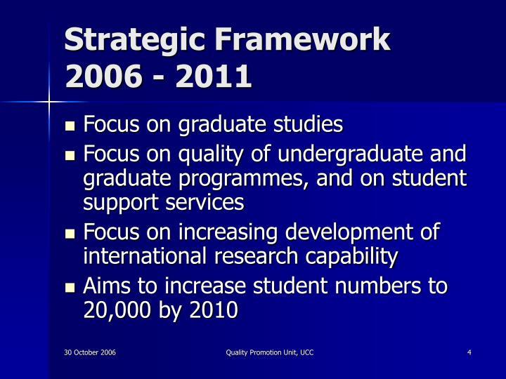 Strategic Framework 2006 - 2011