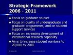 strategic framework 2006 2011