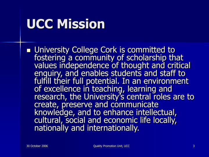 UCC Mission