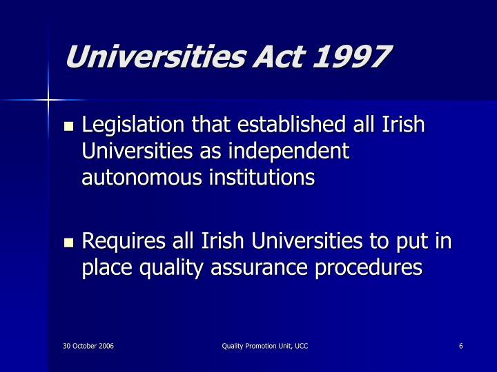 Universities Act 1997