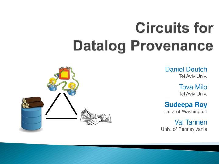 Circuits for datalog provenance