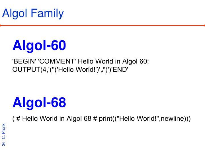 Algol Family