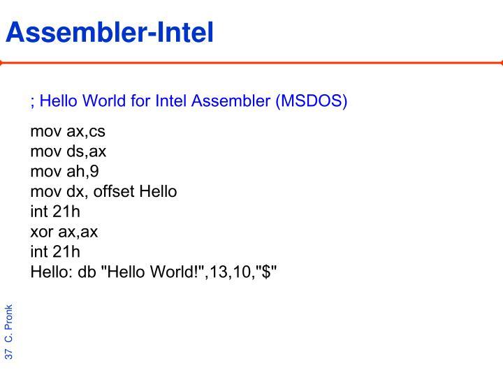 Assembler-Intel