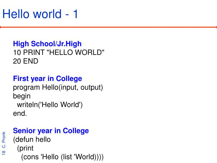 Hello world - 1