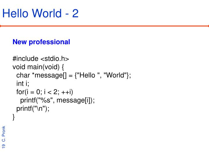 Hello World - 2