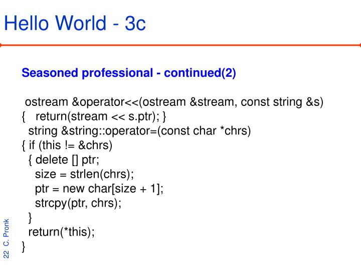 Hello World - 3c