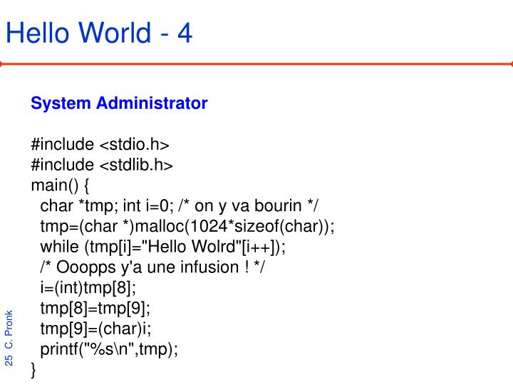 Hello World - 4