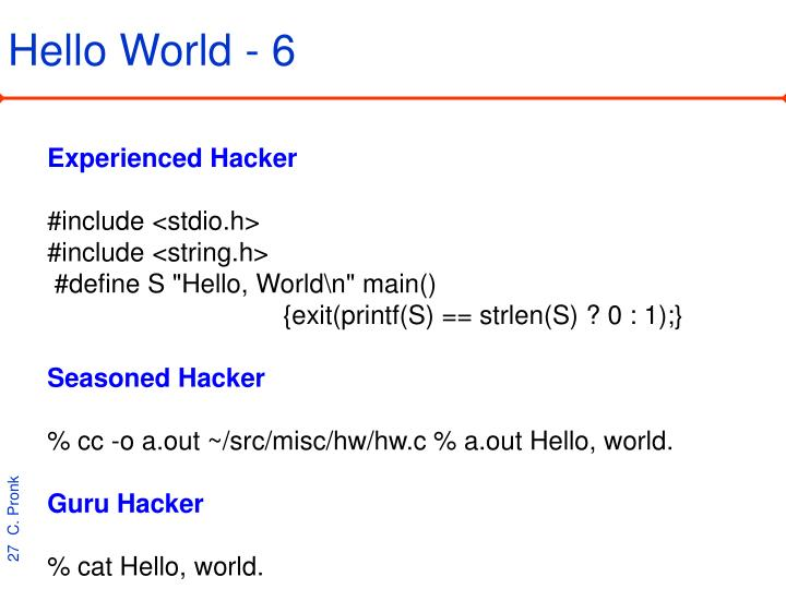Hello World - 6