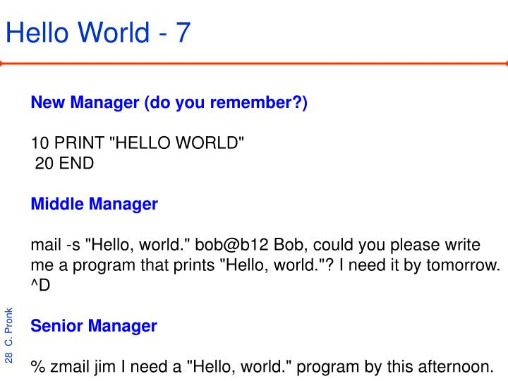 Hello World - 7