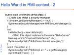 hello world in rmi context 2