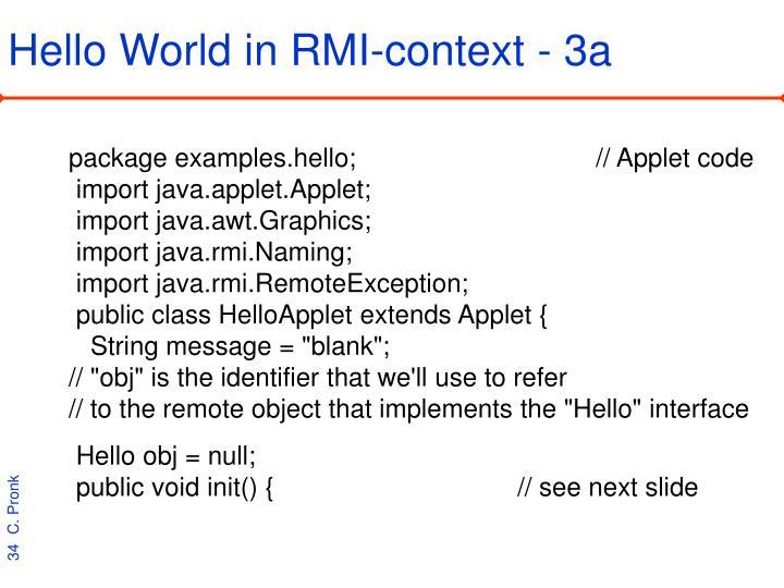 Hello World in RMI-context - 3a