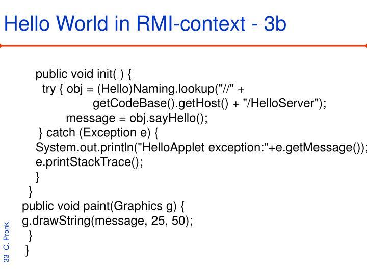 Hello World in RMI-context - 3b
