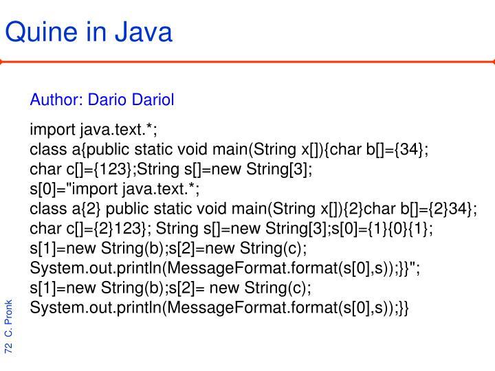 Quine in Java