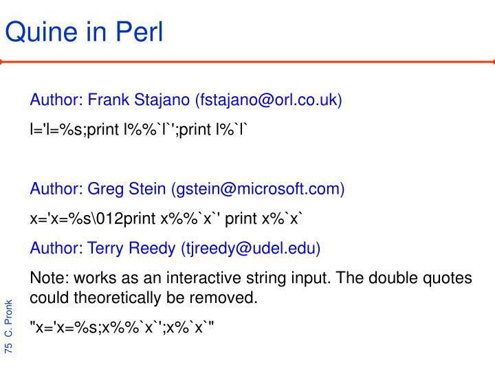 Quine in Perl