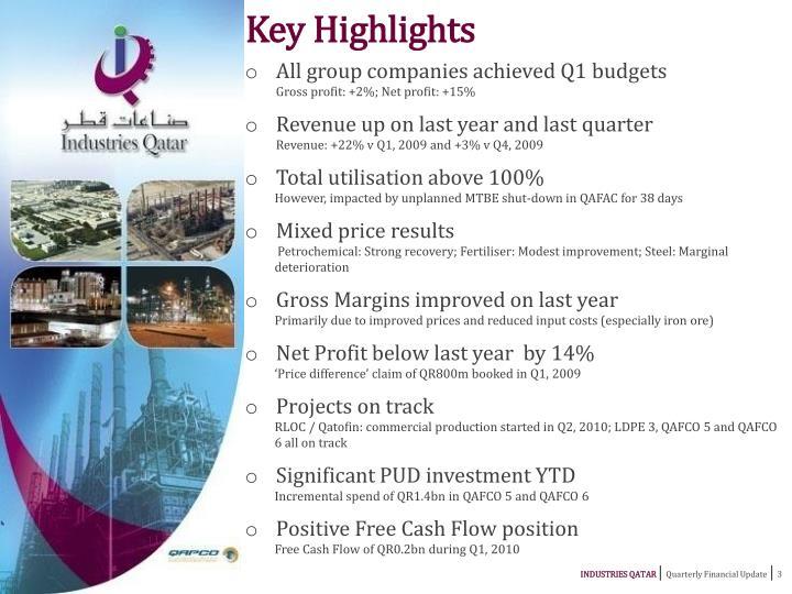Key Highlights