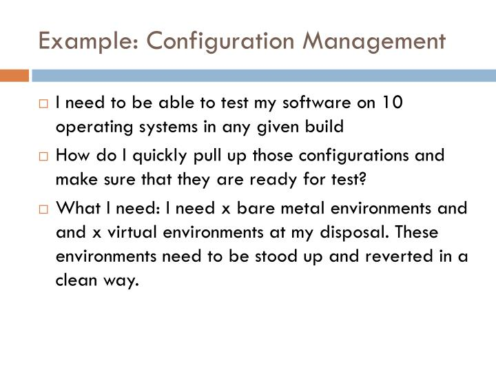 Example: Configuration Management