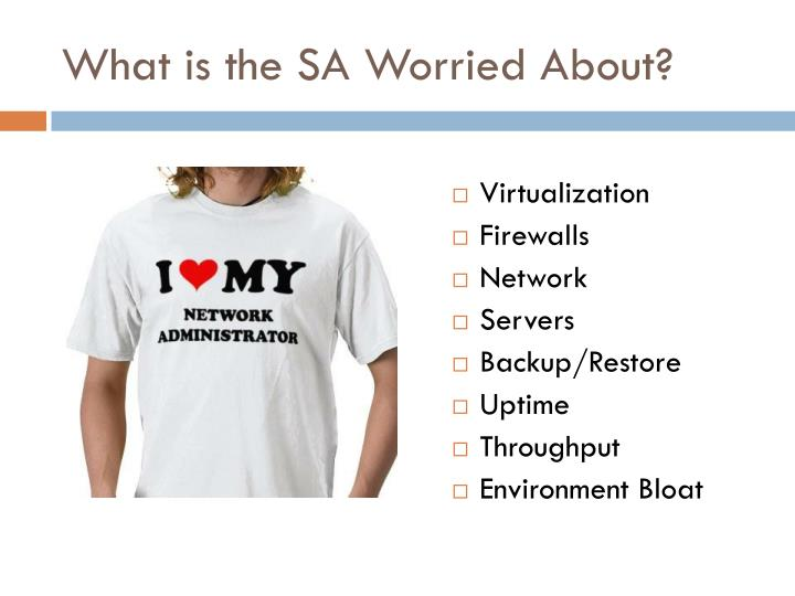 What is the SA Worried About?