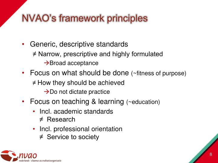 NVAO's framework principles