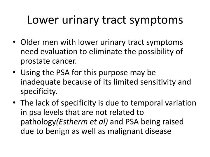 Lower urinary tract symptoms