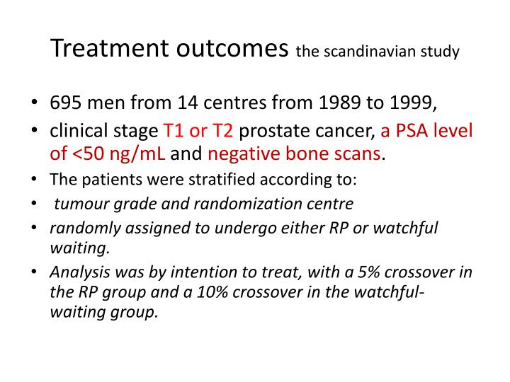 Treatment outcomes