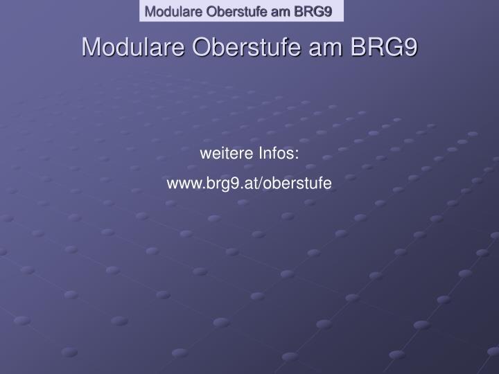 Modulare Oberstufe am BRG9