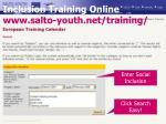 inclusion training online www salto youth net training