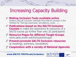 increasing capacity building
