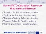 some salto inclusion resources that make a difference