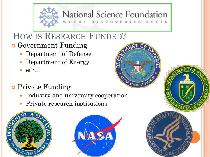 How is Research Funded?